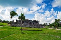 Tulum - Mayan Ruins, Yucatan Peninsula, Mexico. Mexico, Tulum - Mayan Ruins, Yucatan Peninsula royalty free stock photo