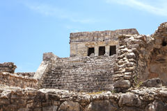 Tulum mayan stad på den yucatan halvön Royaltyfri Foto