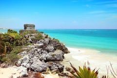 Tulum mayan stad på den yucatan halvön Royaltyfri Bild