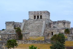 Tulum Mayan temple Royalty Free Stock Photo
