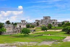 Tulum Mayaruinen, Mexiko Stockbild