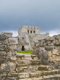 Tulum Mexico. Tulum temple complex Near Cancun, Yucatan area of Mexico. Vacation destination in Mexico. Steps leading up to the main complex core Stock Photography