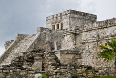 Tulum Mexico. Tulum temple complex Near Cancun, Yucatan area of Mexico. Vacation destination in Mexico. temple stock image