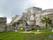 Tulum Mexico. Tulum temple complex Near Cancun, Yucatan area of Mexico. Vacation destination in Mexico stock photo