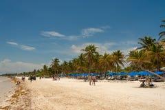 View of Playa Paraiso beach near Tulum. stock photos