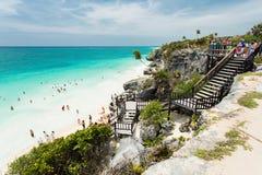 Tulum in Mexico. On the beach in Tulum in Mexico Stock Photos