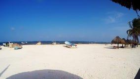 Tulum Mexico Beach tropical adventure time lapse. People enjoy tropical beach paradise in Tulum Mexico stock footage