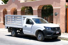 Nissan Navara. Tulum, Mexico - May 17, 2017: Pickup truck Nissan Navara in the city street Royalty Free Stock Photos