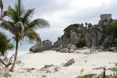 Tulum Mexico mayan ruins Royalty Free Stock Image