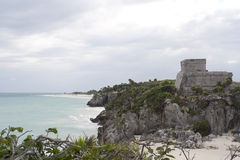 Tulum Mexico mayan ruins Royalty Free Stock Photography