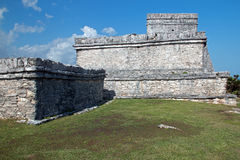 Tulum Mexico Mayan Ruins - Castillo / Temple of the Initial Series Stock Images