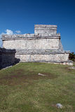 Tulum Mexico Mayan Ruins - Castillo / Temple of the Initial Series Stock Image