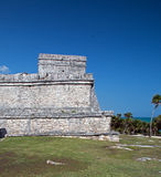 Tulum Mexico Mayan Ruins - Castillo / Temple of the Initial Series Stock Photography