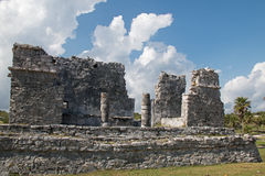 Tulum Mexico Mayan Ruins - House of the Columns Royalty Free Stock Image