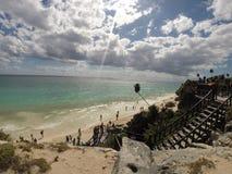 Tulum mexico mayan ruins Stock Image