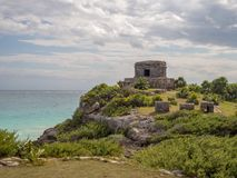 Tulum, Mexico, South America : [Tulum ruins of ancient Mayan city, tourist destination, Caribbean sea, gulf, beach]. Tulum, Mexico, South America - January 2018 stock image
