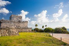 Tulum, Mexico. Wind God temple. Stock Images