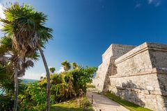 Tulum, Mexico. Wind God temple. Stock Photography