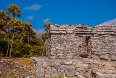 Tulum, Mexico, Yucatan, Riviera Maya: The ruins of the ancient Mayan city archeological site in Tulum stock image