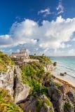 Tulum, Mexiko Wind-Gotttempel Stockfotografie