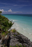 Tulum ocean view Royalty Free Stock Image