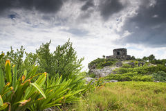 Tulum. One of the most beautiful places of the Mexico coast Stock Photography