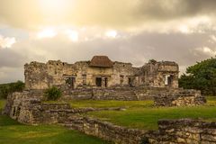 Tulum Oude Maya Archeological Site in Yucatan Mexico Stock Afbeeldingen