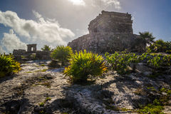 Tulum Oude Maya Archeological Site in Yucatan Mexico Royalty-vrije Stock Afbeelding