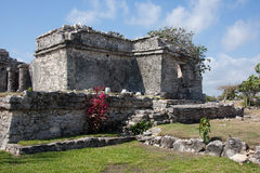 Tulum Palace or Home. Tulum is one of the best-preserved coastal Maya sites and a popular site for tourists Stock Photo
