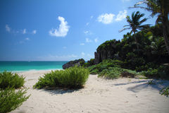 Tulum plaża - Meksyk Obrazy Stock