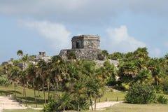 Tulum precolumbian ruins Royalty Free Stock Photography