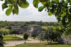 Tulum precolumbian ruins. Ancient Maya ruins at Tulum archaeological park in Yucatan, Mexico Stock Image
