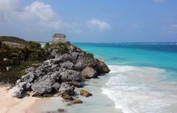 Tulum pyramid Royalty Free Stock Image