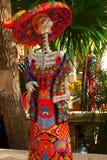 Tulum, Quintana Roo, Μεξικό: Τα αγάλματα της θεάς του θανάτου Catrina στην είσοδο στο αναμνηστικό ψωνίζουν Ο κύριος χαρακτήρας το Στοκ εικόνες με δικαίωμα ελεύθερης χρήσης