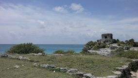 Tulum. Quintana Roo, Mexico. Archeological zone. Prehispanic ruins Royalty Free Stock Images