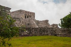 Tulum, Riviera Maya, Yucatan, Mexico: Majestic ruins in Tulum.Tulum is a resort town on Mexicos Caribbean coast.  Stock Images