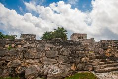Tulum, Riviera Maya, Yucatan, Mexico: Majestic ruins in Tulum.Tulum is a resort town on Mexicos Caribbean coast stock images