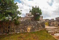 Tulum, Riviera Maya, Yucatan, Mexico: Majestic ruins in Tulum.Tulum is a resort town on Mexicos Caribbean coast stock image