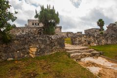 Tulum, Riviera Maya, Yucatan, Mexico: Majestic ruins in Tulum.Tulum is a resort town on Mexicos Caribbean coast stock photos