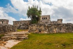 Tulum, Riviera Maya, Yucatan, Mexico: Majestic ruins in Tulum.Tulum is a resort town on Mexicos Caribbean coast.  Stock Photography