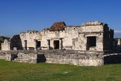 Tulum ruined Mayan temple stock image