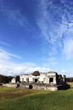 Tulum ruins. Ruins of frescoes in december, tulum, mexico royalty free stock photo