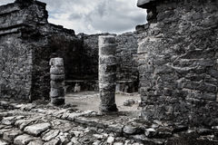 Tulum Ruins. Ancient ruins in the tulum archeological site stock photography