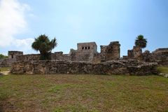 Tulum ruins. Archeology zone, Yucatan, Mexico royalty free stock images