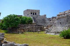 Tulum ruins. Archeology zone, Yucatan, Mexico stock photography