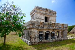 Tulum ruins. Archeology zone, Yucatan, Mexico stock photo