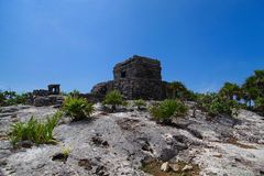 Tulum ruins. Archeology zone, Yucatan, Mexico stock photos