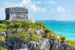 Tulum Ruins and Beautiful Caribbean Stock Photos