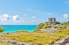 Tulum Ruins by the Caribbean Sea, Mexico Stock Photos