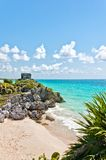 Tulum Ruins by the Caribbean Sea, Mexico Stock Images